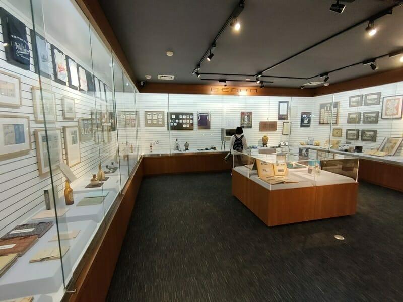 オエノンミュージアムの展示物